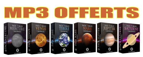 Packs instrus Mercure, Venus, Terre, Mars, Jupiter, Saturne - Beats MP3 OFFERTS